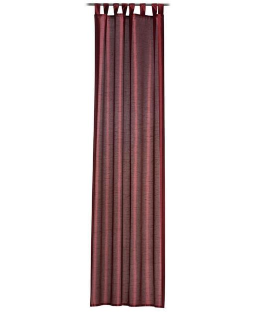 SCHLAUFENSCHAL  blickdicht   140/255 cm - Rot, Textil (140/255cm)