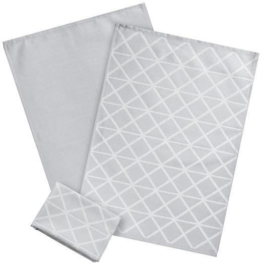GESCHIRRTUCH-SET  3-teilig - Silberfarben, KONVENTIONELL, Textil (50/70cm) - Esposa