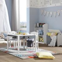 SKRINJA ZA IGRAČE STAR  leseni material siva, bela - siva/bela, Basics, leseni material (60/30/47cm) - My Baby Lou