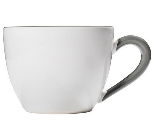 TEETASSE 400 ml - Weiß/Grau, LIFESTYLE, Keramik (15,5/9/12cm) - Gmundner