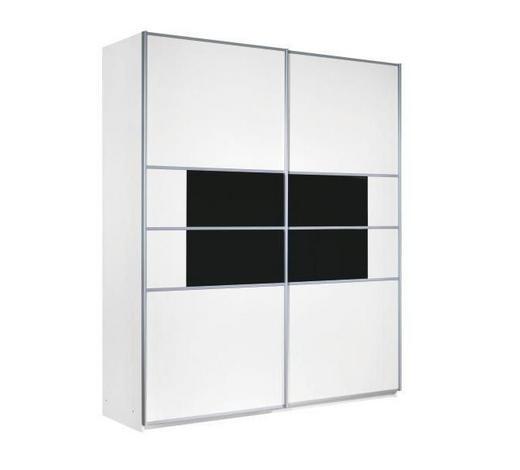SKŘÍŇ S POSUVNÝMI DVEŘMI, černá, bílá - bílá/černá, Design, kov/kompozitní dřevo (226/223/67cm) - Carryhome