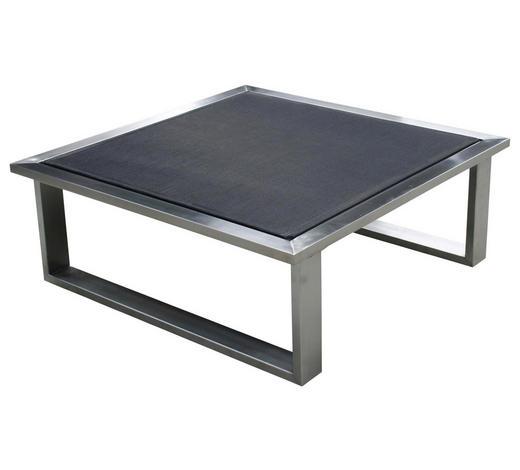 LOUNGEHOCKER Grau, Edelstahlfarben Edelstahl  - Edelstahlfarben/Grau, Design, Textil/Metall (73,5/28/73,5cm) - Zebra Süd