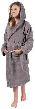 Kinderbademantel - Grau, Basics, Textil (134/140) - Esposa