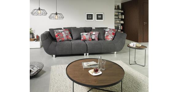 MEGASOFA in Textil Anthrazit, Multicolor - Chromfarben/Anthrazit, Design, Kunststoff/Textil (300/87/133cm) - Hom`in