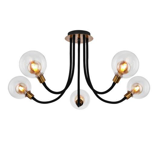 LED-DECKENLEUCHTE - Klar/Goldfarben, LIFESTYLE, Glas/Metall (128/65cm)