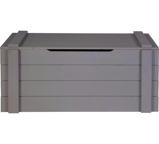 SPIELZEUGTRUHE Kiefer massiv lackiert, gebürstet Dunkelgrau  - Dunkelgrau, Design, Holz (96/44/44cm) - Carryhome