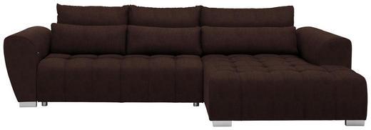 WOHNLANDSCHAFT in Textil Braun - Silberfarben/Braun, MODERN, Kunststoff/Textil (304/218/cm) - Carryhome