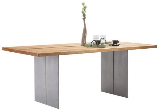 ESSTISCH Asteiche massiv rechteckig Eichefarben - Eichefarben, Design, Holz/Metall (220/100/77cm) - Bert Plantagie