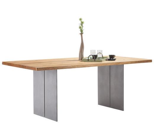 ESSTISCH in Holz, Metall 280/100/77 cm - Eichefarben, Design, Holz/Metall (280/100/77cm) - Bert Plantagie