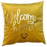 Zierkissen Welcome Home - Gelb, MODERN, Textil (45/45cm) - Luca Bessoni