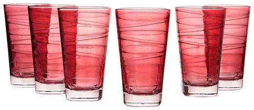 GLÄSERSET 6-teilig - Rot, Basics, Glas (24,4/13,7/16cm) - Leonardo