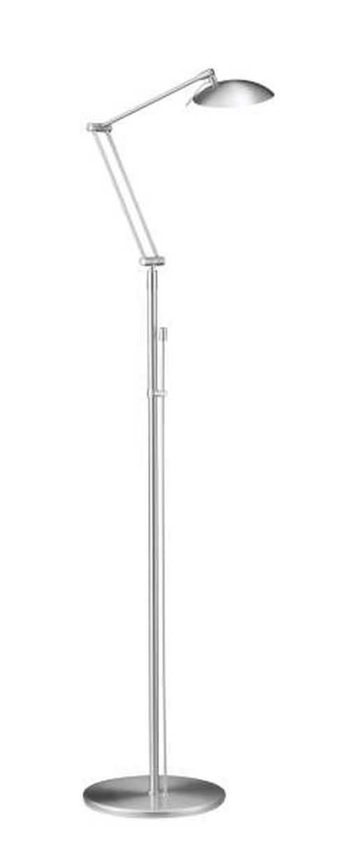 STEHLEUCHTE - Nickelfarben, KONVENTIONELL, Metall (126cm)