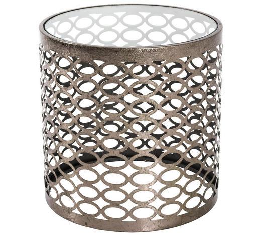 BEISTELLTISCH in Metall, Glas  42/42 cm - Bronzefarben, LIFESTYLE, Glas/Metall (42/42cm)