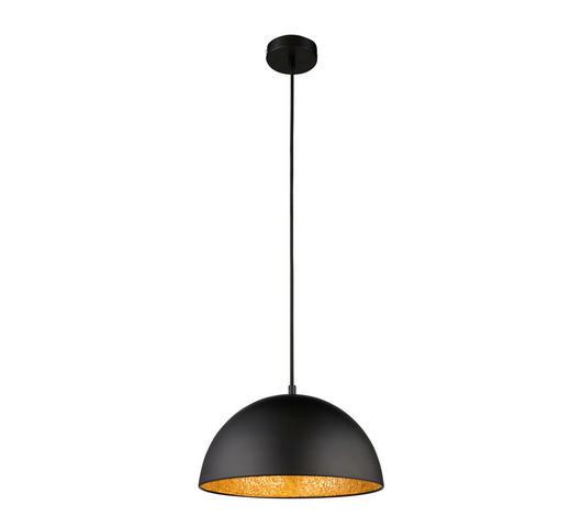 Hängeleuchte - Schwarz, Lifestyle, Glas/Metall (30/121,5cm)
