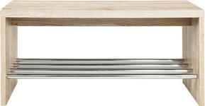 SCHUHBANK 81/40/30 cm  - Eichefarben, Design, Holzwerkstoff/Metall (81/40/30cm) - Carryhome