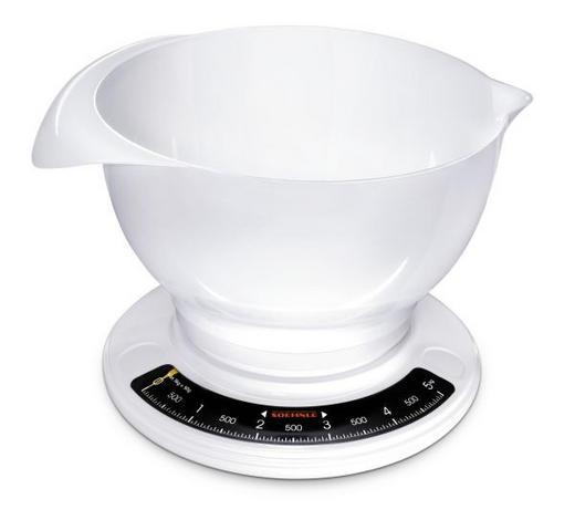 KÜCHENWAAGE - Weiß, Basics, Kunststoff (14/25,3/22,9cm) - Soehnle