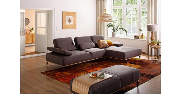 WOHNLANDSCHAFT in Textil Dunkelgrau  - Dunkelgrau/Beige, Design, Textil/Metall (298/178cm) - Valnatura