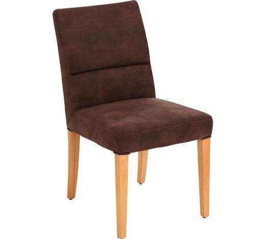 STUHL in Holz, Textil Braun, Buchefarben - Buchefarben/Braun, KONVENTIONELL, Holz/Textil (49/88/66cm) - Moderano
