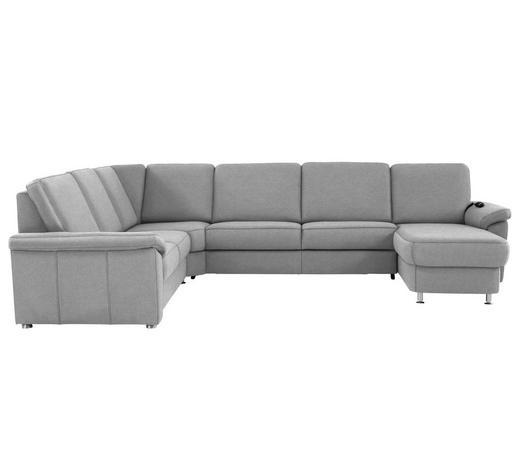 WOHNLANDSCHAFT in Textil Alufarben - Chromfarben/Alufarben, KONVENTIONELL, Textil/Metall (240/330/163cm) - Beldomo System
