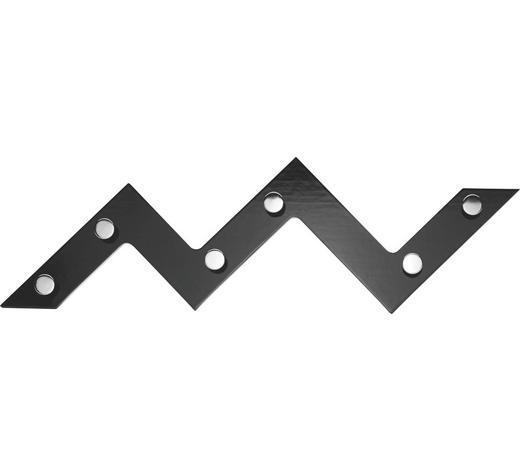 STENSKI OBEŠALNIK - črna/krom, Design, kovina/leseni material (56/34/3cm) - Boxxx