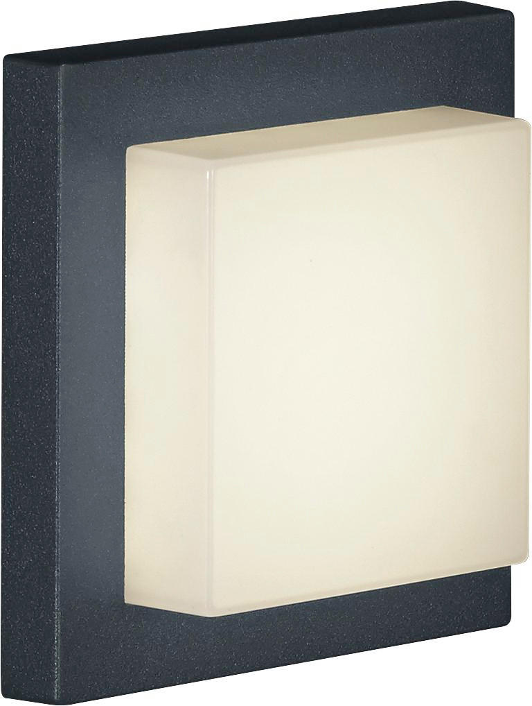 LED-AUßENLEUCHTE - Anthrazit/Weiß, KONVENTIONELL, Kunststoff/Metall (14/6,5/14cm)