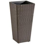 Pflanzentopf - Braun, Konventionell, Kunststoff/Metall (36/70/36cm) - Ambia Garden