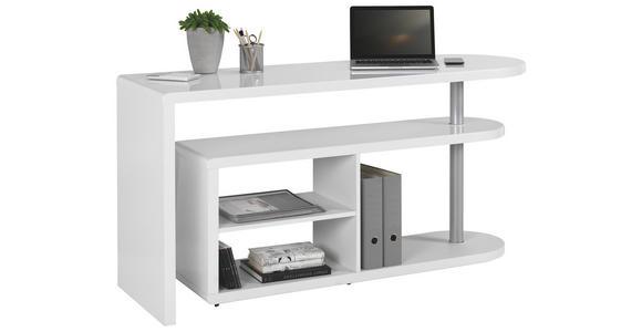 SCHREIBTISCHKOMBINATION in Holzwerkstoff 145/74,7/50 cm  - Weiß, Design, Holzwerkstoff (145/74,7/50cm) - Hom`in