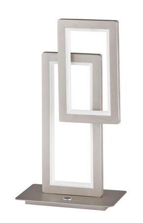 LED BORDSLAMPA - nickelfärgad, Design, metall/plast (30/46/15cm)