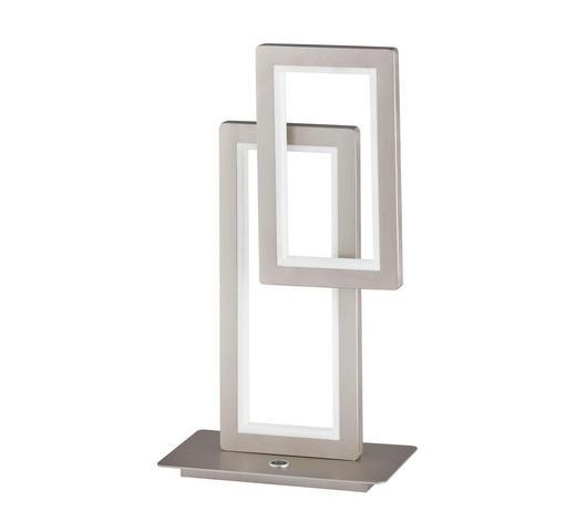 LED-TISCHLEUCHTE - Nickelfarben, Design, Kunststoff/Metall (30/46/15cm)