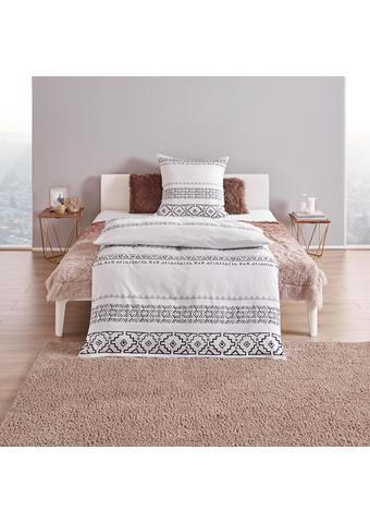BETTWÄSCHE Satin Schwarz, Weiß 135/200 cm  - Schwarz/Weiß, Trend, Textil (135/200cm)