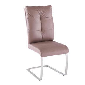 SVIKTSTOL - brun/rostfritt stål-färgad, Design, metall/textil (46/106/62cm) - Novel
