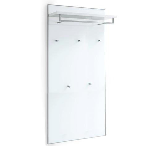 GARDEROBENPANEEL 80/170/27 cm - Weiß, Design, Glas/Holzwerkstoff (80/170/27cm) - Novel