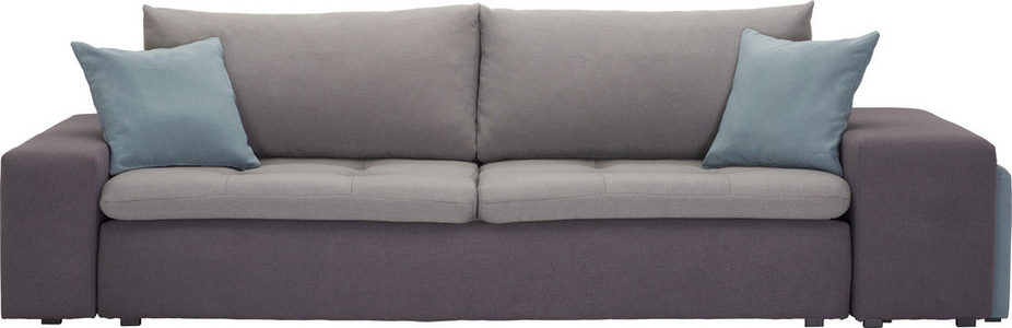 MEGA SOFA - Crna/Tamnosiva, Dizajnerski, Tekstil/Plastika (257-267/69-79/103cm) - Carryhome