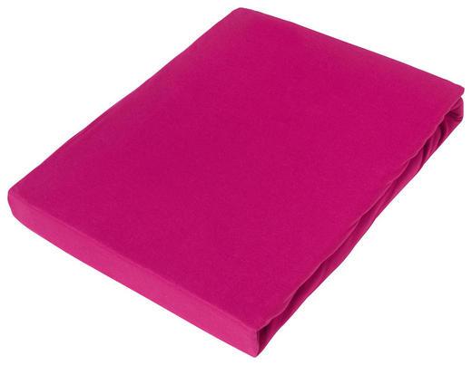 SPANNBETTTUCH Jersey Rosa bügelfrei - Rosa, Basics, Textil (180/200cm) - Novel