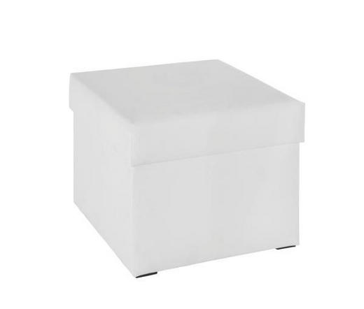 SITZWÜRFEL Lederlook Weiß - Weiß, Design, Textil (53/43/53cm) - Carryhome