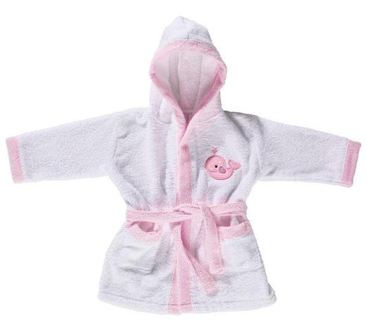 KINDERBADEMANTEL  Rosa, Weiß  - Rosa/Weiß, Basics, Textil (74/80cm) - My Baby Lou