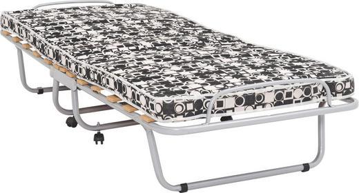 KLAPPBETT Metall 80/190 cm - Alufarben/Schwarz, Basics, Textil/Metall (80/190cm) - Carryhome