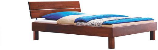 BETT Buche massiv 160/210 cm - Nussbaumfarben, Design, Holz (160/210cm) - Hasena