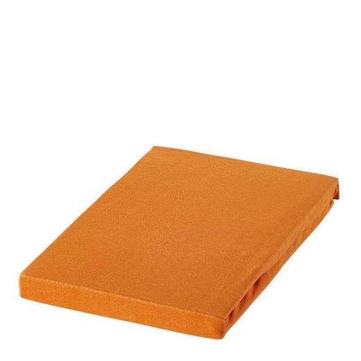 SPANNBETTTUCH Jersey Terra cotta bügelfrei, für Wasserbetten geeignet - Terra cotta, Basics, Textil (180/200cm) - BOXXX