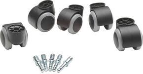 HJUL TILL SNURRSTOL - grå/svart, Basics, metall/plast - Boxxx