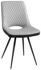 STOL, kovina, tekstil svetlo siva, temno siva - temno siva/siva, Design, kovina/tekstil (64,5/86/47cm) - Carryhome