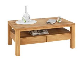 COUCHTISCH Wildeiche massiv rechteckig Eichefarben - Eichefarben, Design, Holz/Kunststoff (110/70/47,5cm) - Linea Natura