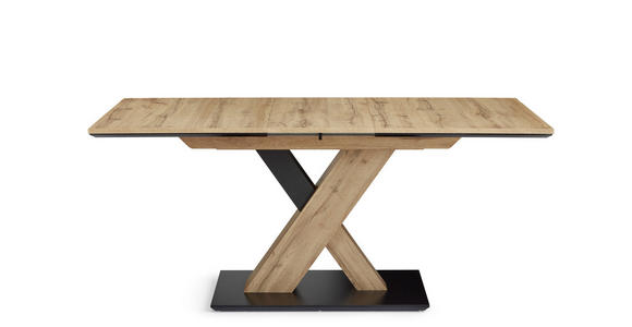 ESSTISCH in Holzwerkstoff 130(170)/85/75,5 cm  - Eichefarben/Schwarz, Design, Holzwerkstoff (130(170)/85/75,5cm) - Cantus