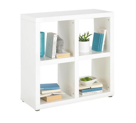 REGAL in Weiß  - Alufarben/Weiß, Design, Holzwerkstoff/Kunststoff (84/85/35cm) - Carryhome