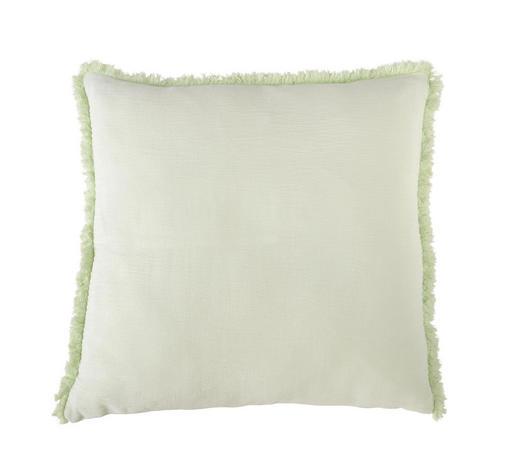 POLŠTÁŘ OZDOBNÝ, 48/48 cm, bílá, mátově zelená - bílá/mátově zelená, Konvenční, textil (48/48cm) - Ambiente