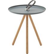 BEISTELLTISCH in Dunkelbraun, Grau - Dunkelbraun/Grau, Design, Holz/Metall (40/45cm) - Rolf Benz