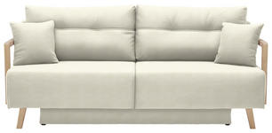 SCHLAFSOFA in Textil Creme  - Creme/Naturfarben, KONVENTIONELL, Holz/Textil (200/92/95cm) - Venda