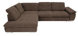 WOHNLANDSCHAFT in Textil Braun - Chromfarben/Braun, Design, Textil (242/313cm) - Xora