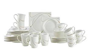KOMPLETT SERVIS - vit/brun, Basics, keramik - Ritzenhoff Breker