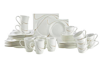 SERVIS KOMBINOVANÝ - bílá/hnědá, Basics, keramika - Ritzenhoff Breker